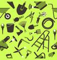garden tools seamless pattern vector image vector image