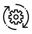 gear and arrows around agile element icon vector image