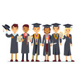 graduation concept with students college vector image vector image