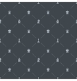 Gray luxury seamless pattern with chess symbols vector image vector image