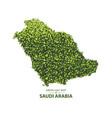 green leaf map of saudi arabia vector image vector image