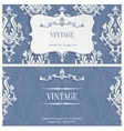 Grey 3d Vintage Invitation Template with vector image vector image