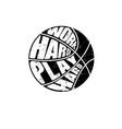 grunge basketball symbol vector image vector image