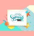 hand lettering summer sale text surrounded vector image vector image