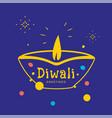 happy diwali greeting card with diya candle vector image vector image