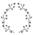 high quality original frame of the branches of the vector image vector image