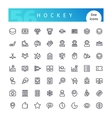 Hockey Line Icons Set vector image