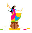 indian dance garba vector image