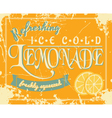 lemonade vintage label vector image vector image