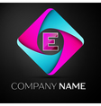 Letter E logo symbol in the colorful rhombus vector image vector image