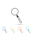 magnifying glass icon isolated on white background vector image