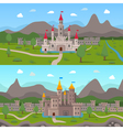 Medieval Ancient Castles Compositions vector image vector image