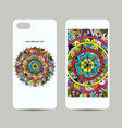mobile phone cover design floral mandala vector image