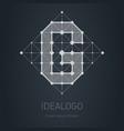 modern logo with letter g design element vector image vector image