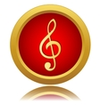Music note sign icon vector image