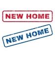 New Home Rubber Stamps vector image vector image