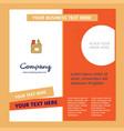 pencil box company brochure template busienss vector image vector image