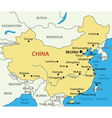 Peoples Republic of China - map vector image vector image