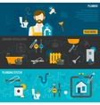 Plumber Banner Set vector image vector image