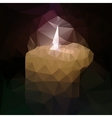 polygonal mosaic of burning candle vector image
