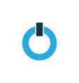 power on colorful icon symbol premium quality vector image