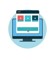 Responsive Design Icon Flat Isolated vector image