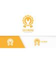 reward and repair logo combination trophy vector image vector image