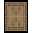 Rug in a light brown tones with patterned hearts vector image vector image