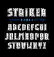 sans serif font with contour and rough texture vector image vector image
