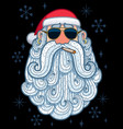 santa portrait 3 - cool vector image