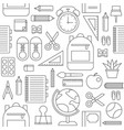 school supplies seamless pattern back to vector image