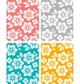 Seamless spring flower patterns vector image vector image
