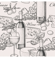 Seamless wine and cheese vector image vector image