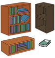 set of bookshelf vector image