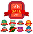 set of different nine discount stickers vector image vector image