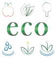 small set of environmental icons vector image vector image