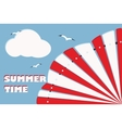 summer background card vector image vector image