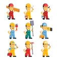 Technician Working a Set of People vector image vector image