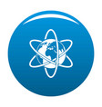 travel world icon blue vector image