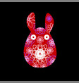 unusual bunny for the easter design and cards vector image vector image