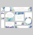 watercolor floral background with text space vector image vector image