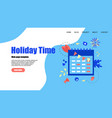 web template holiday time with mark vector image vector image