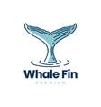 whale fin logo icon vector image