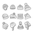 winter hat cold season clothes warm ears flapping vector image vector image