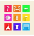 Icons for camping vector image