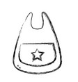 figure bib baby tool that used to eat vector image