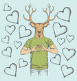 deer valentine day concept vector image