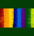 abstract irregular polygon background rainbow vector image vector image