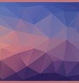 abstract triangle background in blue tones vector image