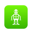 artificial intelligence concept icon digital green vector image vector image